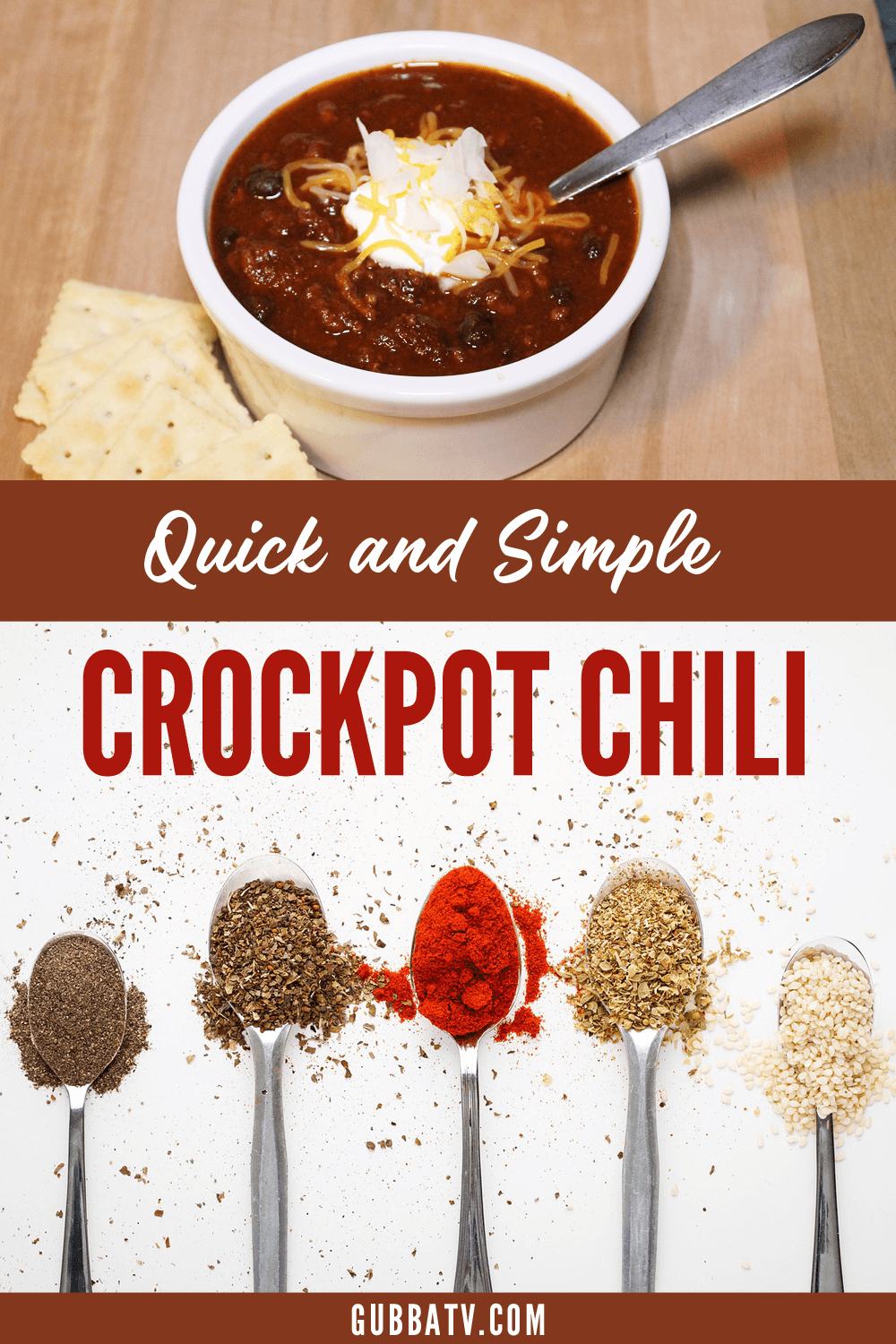 Quick and Simple Crockpot Chili