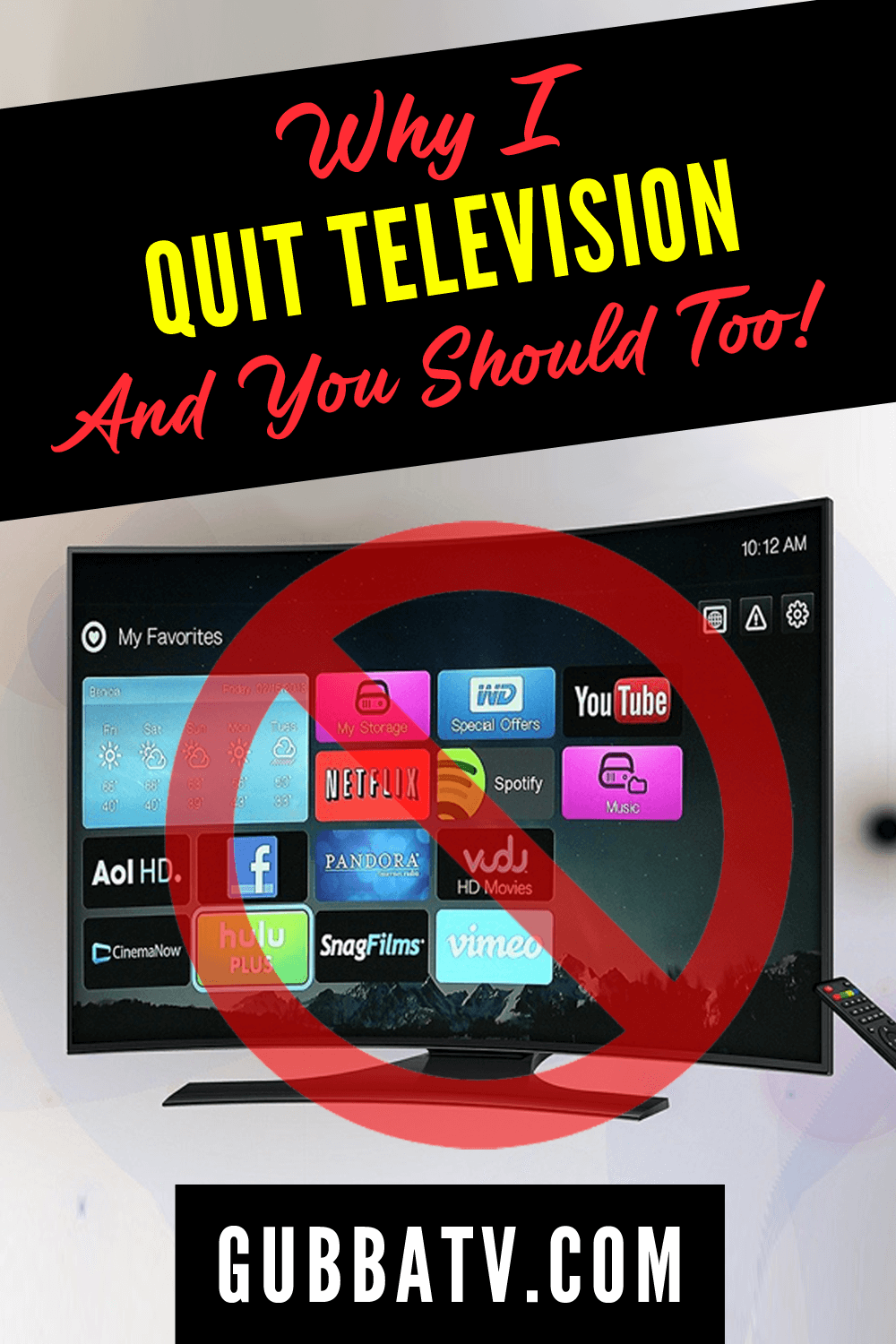 Why I Cancelled Television And You Should Too!