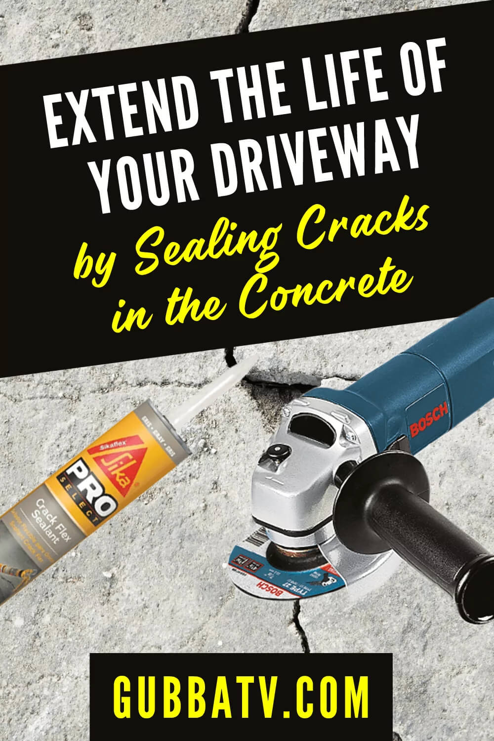 Extend the Life of Your Driveway by Sealing Cracks in the Concrete