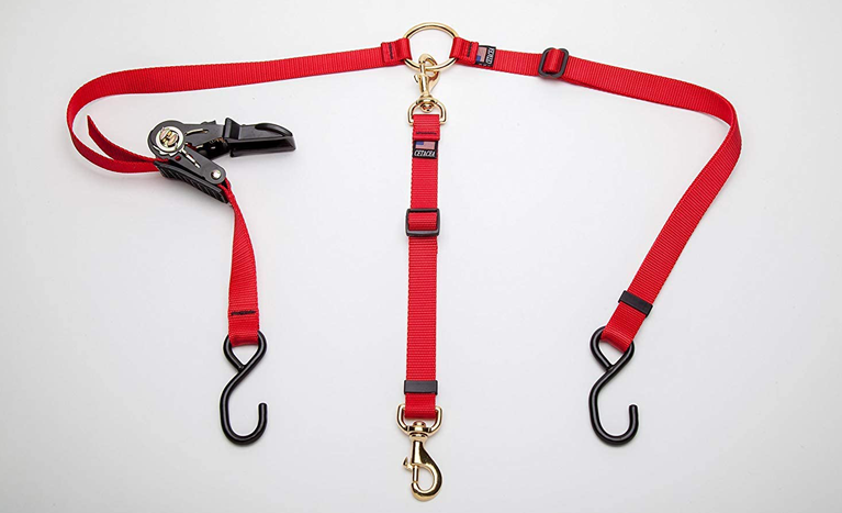 Kennel harness tether