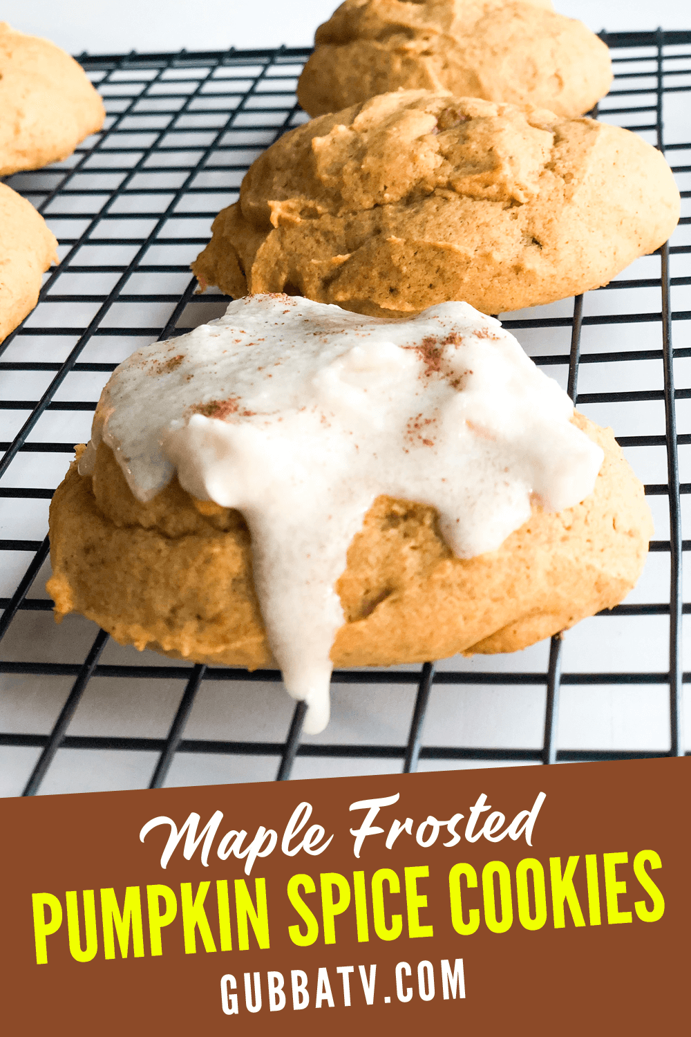 Maple Frosted Pumpkin Spice Cookies