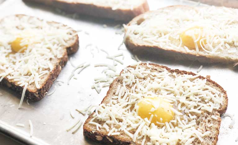 Best Eggs in a basket before cooking
