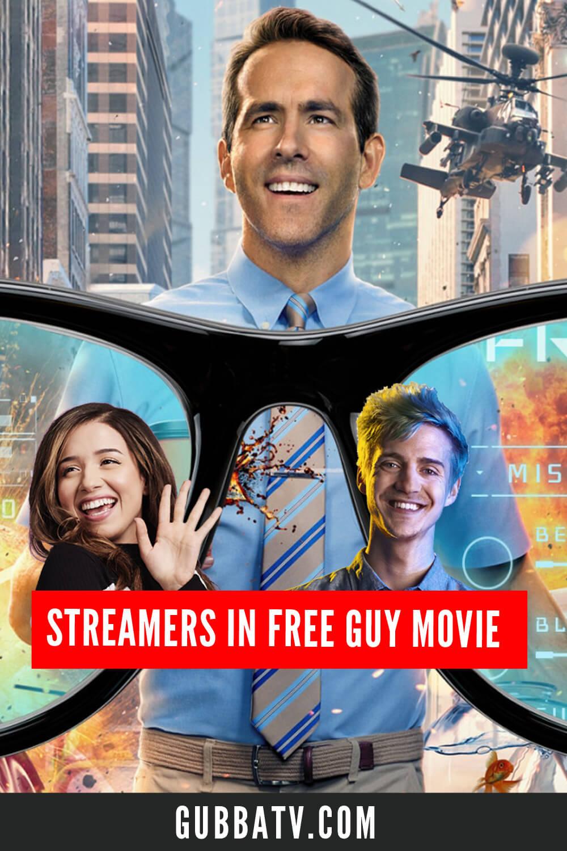 Streamers In Free Guy Movie
