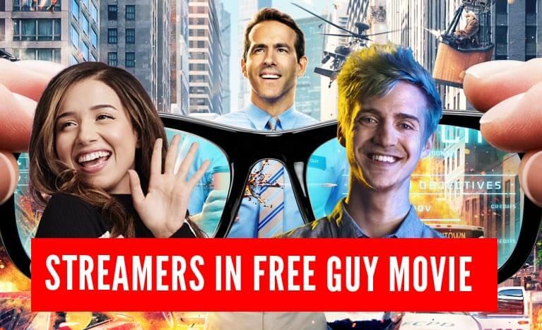 streamers in movie free guy
